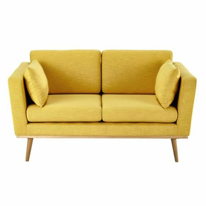 Canapé 2 places jaune Timeo