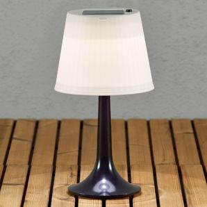 Lampe à poser solaire LED noire Assisi Sitra