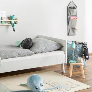 Tapis enfant Eule Beige/Bleu 80x150 cm - Tapis pour chambre denfants/bébé