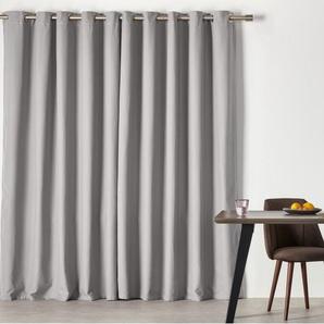 Solar, une paire de rideaux à œillets 168 x 228 cm, gris ciel