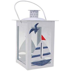 LIOOBO Lanterne à Bougie en Fer Vintage Bateau Voilier Lanterne Bougeoir Nautique pour Table Maison Décoration Intérieure Extérieure