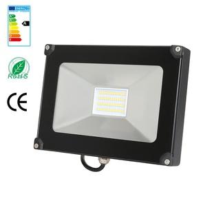 Anten 30W Projecteur LED Léger Spot LED Étanche IP65 Lampe Solide pour Extérieur et Intérieur Blanc Froid 6000K Coque Noir