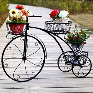 WSXX Stand de Fleur de Bicyclette de Fer forgé, Support de Pot de Panier accrochant de Plancher dintérieur, Ornements de métiers dart Haut 55.3cm * Large de 83cm * diamètre de Pot de Fleur 23cm