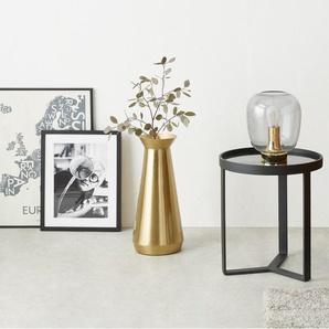 Beaumont, très grand vase cylindrique, doré