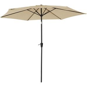 Parasol droit HAPUNA rond 2,70m de diamètre beige - HAPPY GARDEN