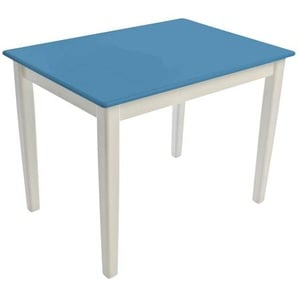 Kinderbunt Tim - Table d'Enfant bicolore - bleu pastel/69x49x51cm/structure blanc RAL 9010