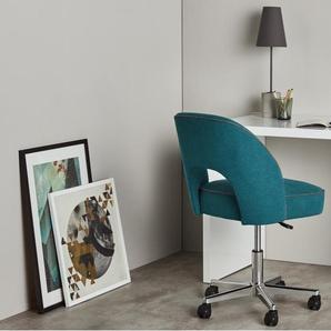 Lloyd, chaise de bureau, bleu minérali et gris marne