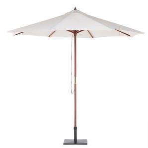 Grand parasol pour terrasse en tissu beige clair - BELIANI