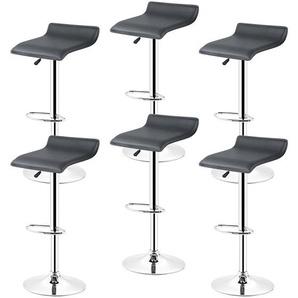 6* tabourets de bar chaise bistrot réglable pivotant siège Européen style noir - JEOBEST