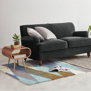 Orson, canapé 2 places, velours gris nuit