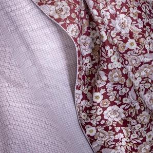 Parure de lit LUTECE satin de coton imprimé rouge cinabre