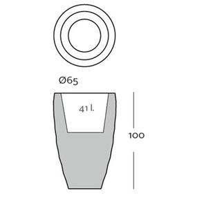 Vondom Pot de fleurs VASES - grand modèle - verni - blanc - Ø 65 x 100 cm