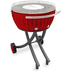 barbecue à charbon 60 cm rouge - lg-ro-600 - lotusgrill - LOTUS GRILL