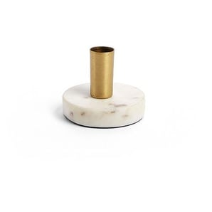 Bougeoir Llaksa 6,5 cm, marbre blanc