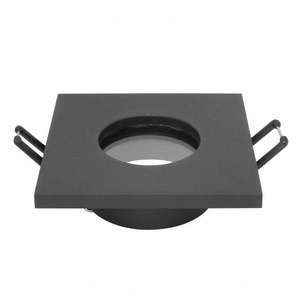 - Support dencastrement GU10 / MR16 Étanche IP65 - Carré - Noir mat - DELITECH