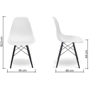 Chaise DSW - Blanc