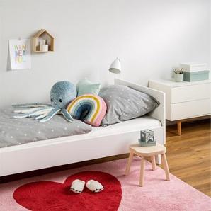 Tapis lavables pour enfants Bambini Heart Rose 150x200 cm - Tapis lavable pour chambre denfants/bébé