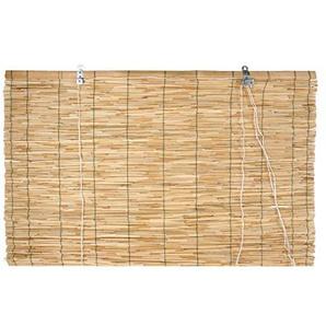 Verdemax 6708 Store Enrouleur en Bambou Brut 1,2x 2.6m Fermeture par Fil en Nylon avec poulie