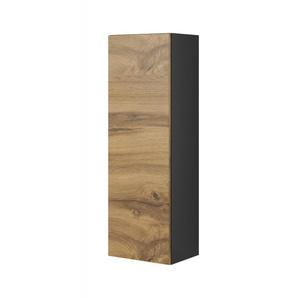 Armoire suspendue 120 cm aspect chêne et gris anthracite Trevise