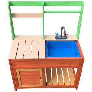 Cuisine extérieure pour enfants en bois, cuisine extérieure avec évier - WILTEC