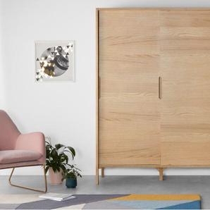 Ledger, armoire penderie à portes coulissantes, chêne