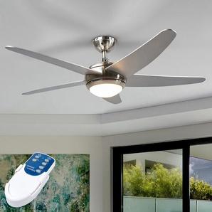 Ventilateur de plafond argenté Anneka avec lumière