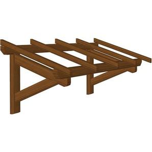 Marquise en bois pour portes et fenêtres - Durable - Traitée Marron - 1.90 x 0.9 m - WMU