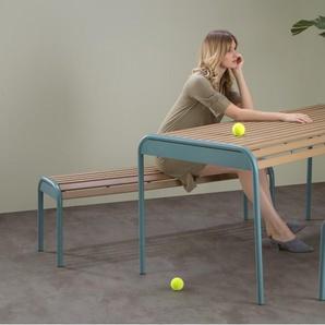 Mead, ensemble table et bancs, bleu graphite
