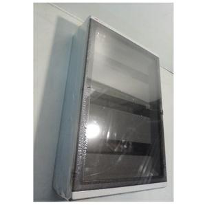 Coffret étanche gris 3 rangées 54 modules IP65 porte transparente avec barette terre 380x570x140mm 1SL2758A02 EUROPA ABB 153758