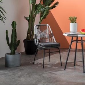 Copa, ensemble table et chaises de bistro, tons de gris