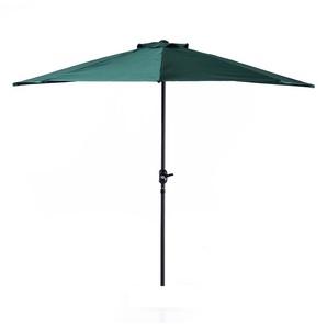 Demi parasol, parasol de balcon 5 entretoises aluminium polyester 2,69L x 1,38l x 2,36H m vert - Outsunny