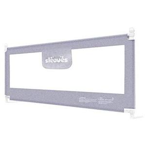 MY1MEY Rails de lit Pliables Portables Garde de Protection de lit de securite pour Enfant en Bas Age (Gris, 180cm)