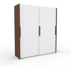 Dressing - Blanc, design, armoire penderie pour chambre ou entrée, haut de gamme, avec portes coulissantes - 204 x 233 x 65 cm, modulable