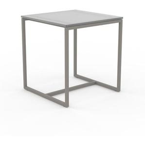 Table basse en Verre clair dépoli, design industriel, bout de canapé raffiné - 42 x 46 x 42 cm, personnalisable