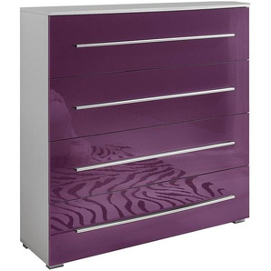 JUSTyou VERONA 4S Commode Blanc Violett