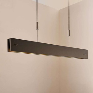 Suspension LED Karinja noire en bois, dimmable