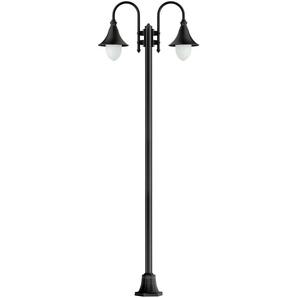 Lampadaire à 2 lampes Miranda noir