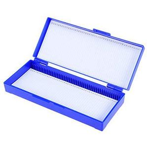 Hemobllo Boîte de Microscope à glissières Bio Slice Box Cassette à tranches en Plastique pour pathologie Biologique (Marine)