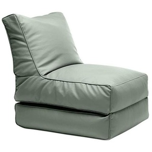 Sitting Bull Chaise-longue Flex tissu - mer vert/LxPxH 195x65x20cm
