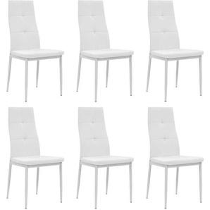 Chaises de salle à manger 6 pcs Blanc Similicuir - VIDAXL
