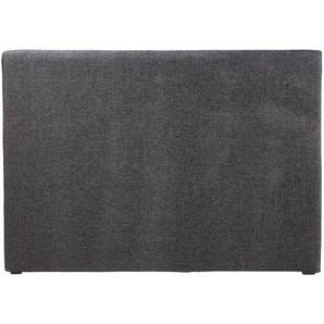 Housse de tête de lit 160 gris carbone