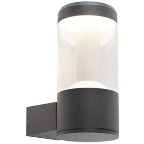 LED Applique dextérieur ronde Moderne Graphite / Antracite / Gris Foncé IP54 - Imcus Qazqa Moderne Luminaire exterieur IP54