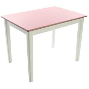 Kinderbunt Tim - Table d'Enfant bicolore - blanc/rose/69x49x51cm/structure blanc RAL 9010