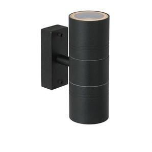 ARNE LED-Applique dextérieur 2 lumières Métal H17cm Noir Lucide