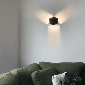 Applique Moderne noir - Cube Qazqa Design, Moderne Luminaire interieur