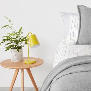 Essentials Brosse, couvre-lit 100% polaire de coton 150 x 200 cm, gris