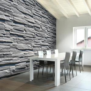 Papier peint - Mur de pierre grise