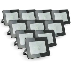 Lot de 10 projecteurs 20W IP65 extérieur | Température de Couleur: Blanc neutre 4000K - ECLAIRAGE DESIGN