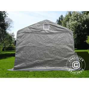 Tente Abri Voiture Garage Basic, 3,3x7,2x2,4m PE, Gris - DANCOVER