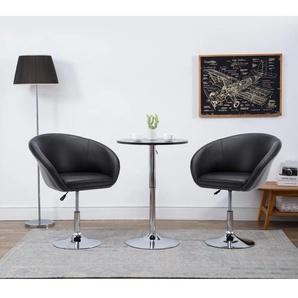Chaise pivotante de salle à manger Noir Similicuir - VIDAXL